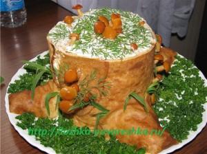 """Рецепт приготовления салата """"Пенёк"""""""
