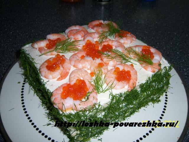 Хлебный торт «Крабик»