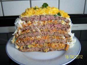 Торт из печени в разрезе