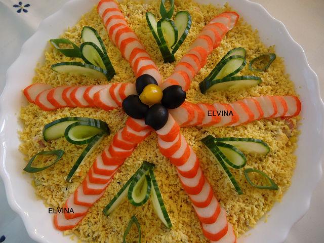 Салат нежный краб