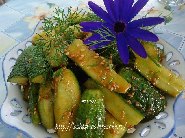 Острые огурцы по-корейски — рецепт с фото