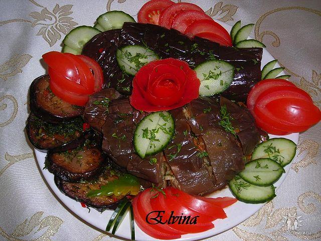 Баклажаны маринованные с овощами