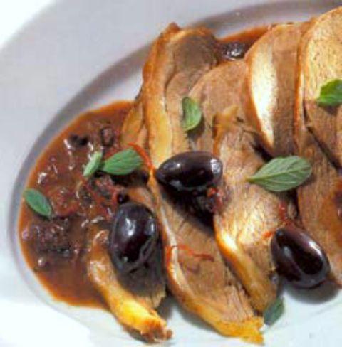 Баранина с оливками по-итальянски