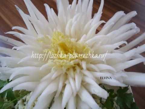 Цветок из пекинской капусты