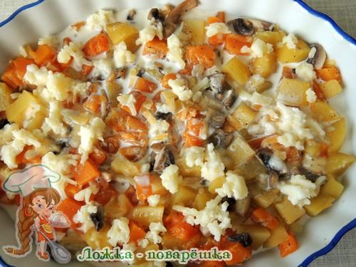 Запеканка с овощами и сыром
