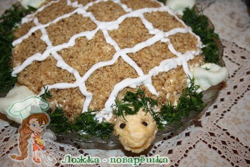 Салат черепашка