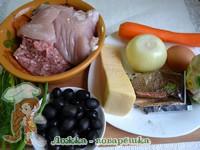Продукты для мясного рулета