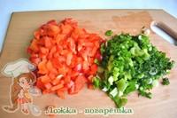 Овощи для рулета из сыра