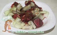 Мясо и лук для хинкали