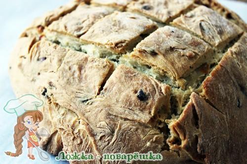 Луковый хлеб в духовке