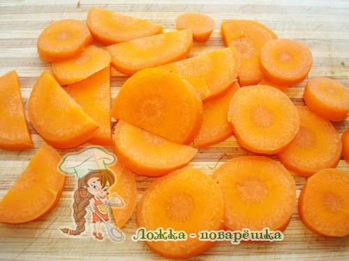 Отварная морковь