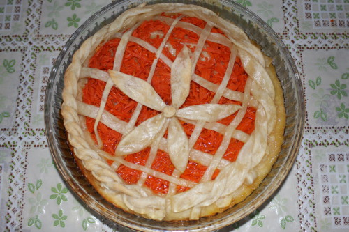 Открытый тыквенный пирог