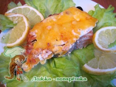 Рыба с сыром в духовке