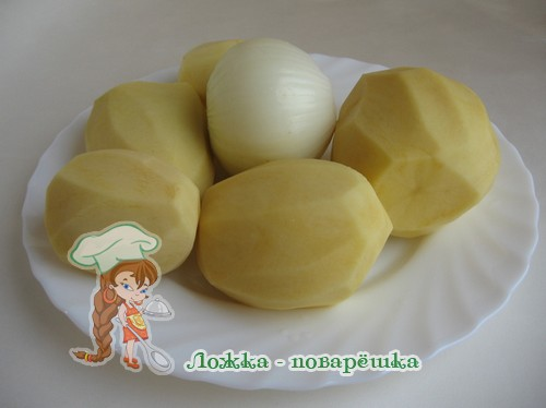 Картофель и лук для дерунов