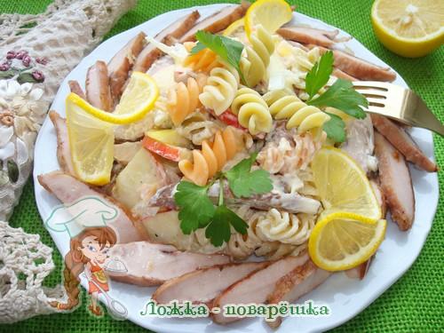 Салат из молок лососевых рыб по-итальянски фото