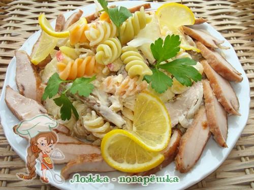 Салат из молок лососевых рыб по-итальянски