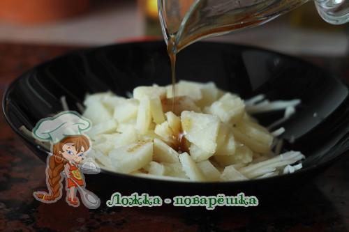 Салат из кольраби с маслом