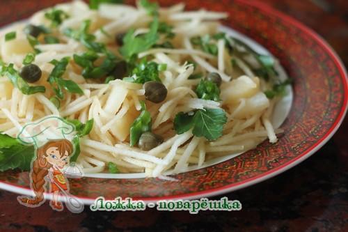 Салат из кольраби и картофеля фото