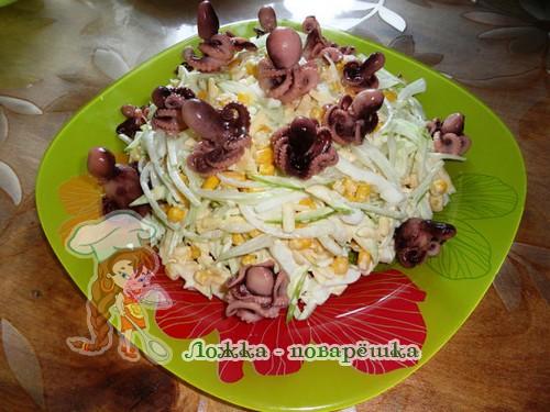 Салат осьминожка фото