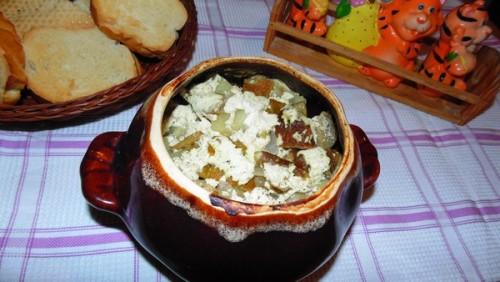 Картофель с грибами в духовке