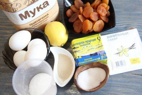 Ингредиенты для лимонного кулича