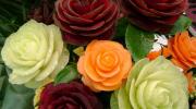 Как быстро и легко сделать цветы из продуктов