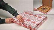 Пицца в «поющей» рождественской коробке