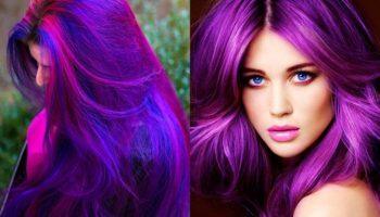 Как модно и красиво покрасить волосы в фиолетовый цвет